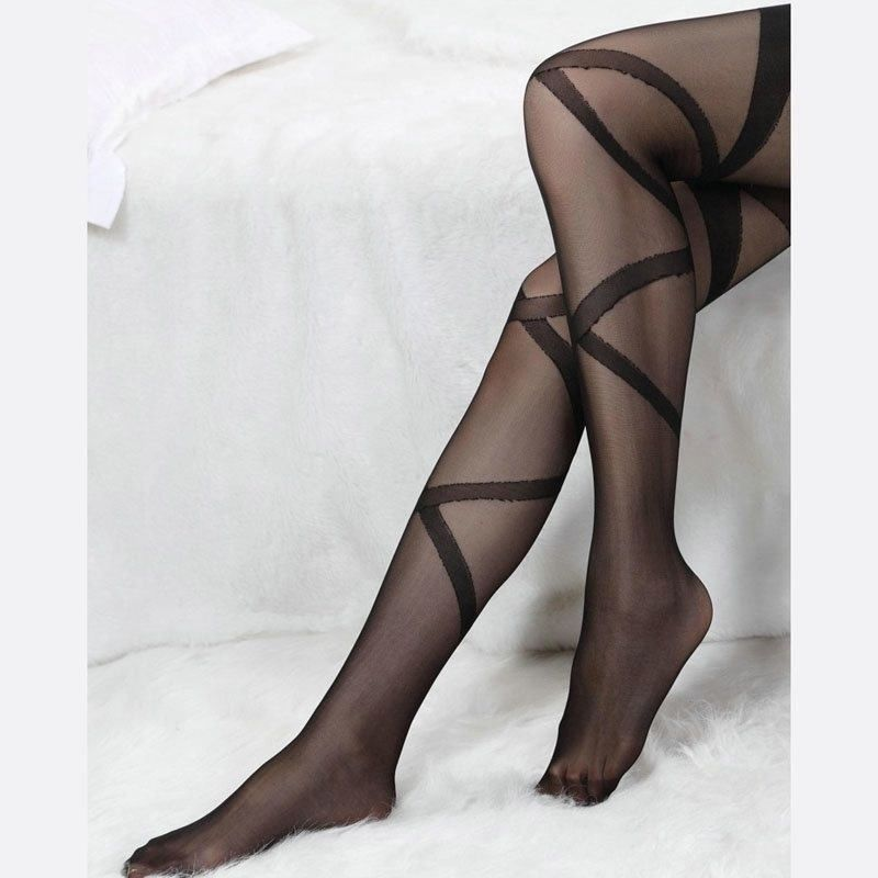 488512c76b3ec Women Girl Sexy Lace Top Stay Up Thigh Highs stripe Stockings Tight Black-in  Stockings from Underwear & Sleepwears on Aliexpress.com | Alibaba Group