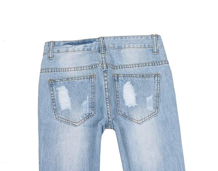 Printemps Taille Extensible Jeans Blue Flare Trou Été Bleu Femme Micro Moyenne Light Pas Clair Coton F4wFrAPq