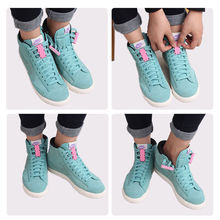 1 Pair Novelty Magnetic Casual Sneaker Shoe Buckles Closure No-Tie Shoelace New Worldwide sale