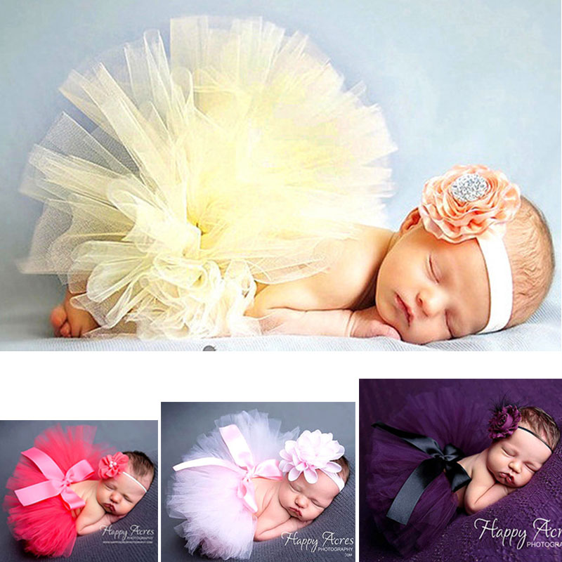SALE Tutu! Kawaii Baby Clothes Top Quality Baby Girl Photography Accessories Newborn Props Flower Tire Girls Dress Free Headband
