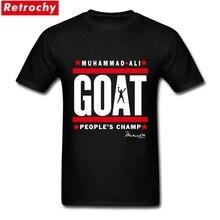 American Brand muhammad ali the greatest t shirt Men Short Sleeve GOAT Tee Shirts Thanksgiving Day Plus Size T-shirt