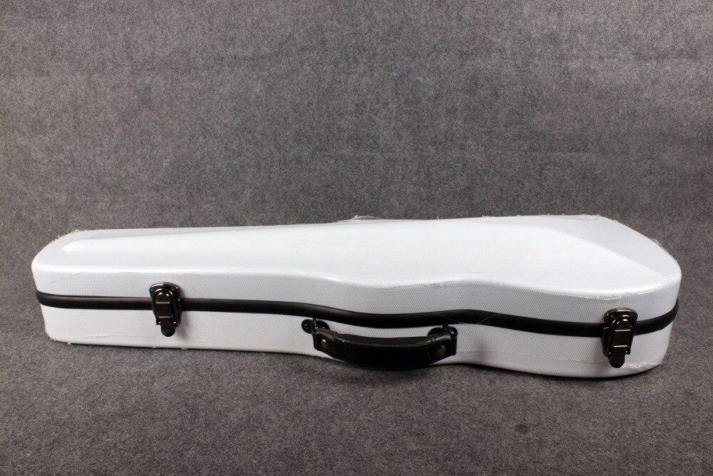 Один чехол из углеродного волокна для скрипки 4/4 Размер Чехол из углеродного волокна крепкий светильник прочный черный цвет белый цвет - Цвет: white color