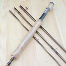 9FT # 7/8 Carbon Fly Fishing Rod Pole 4 Pieces Medium-Fast Action Light Feel 2.7M Length Trout River Fishing