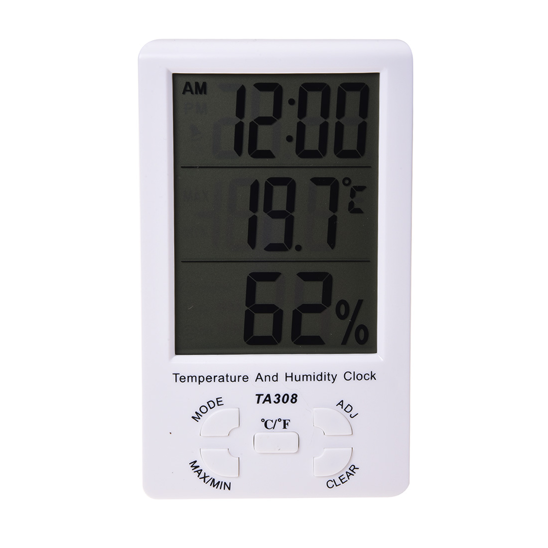 LIXF LED Screen Digital Thermometer Hygrometer for Indoor Outdoor Garden Patio White