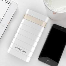 ARUN 20000 мАч Внешний аккумулятор повербанк 2 USB power Bank портативный мобильный телефон зарядное устройство для Xiaomi samsung iphone XS