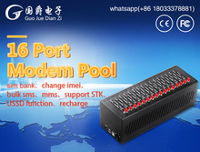 FIMT interfejs USB 16 portów bezprzewodowy Q2303 GPRS GSM Modem SMS masowych tanie tanio 128 kbps Zewnętrzny GJ1000 Wcdma SZGJDZ Zdjęcie wireless black 900 1800MHZ