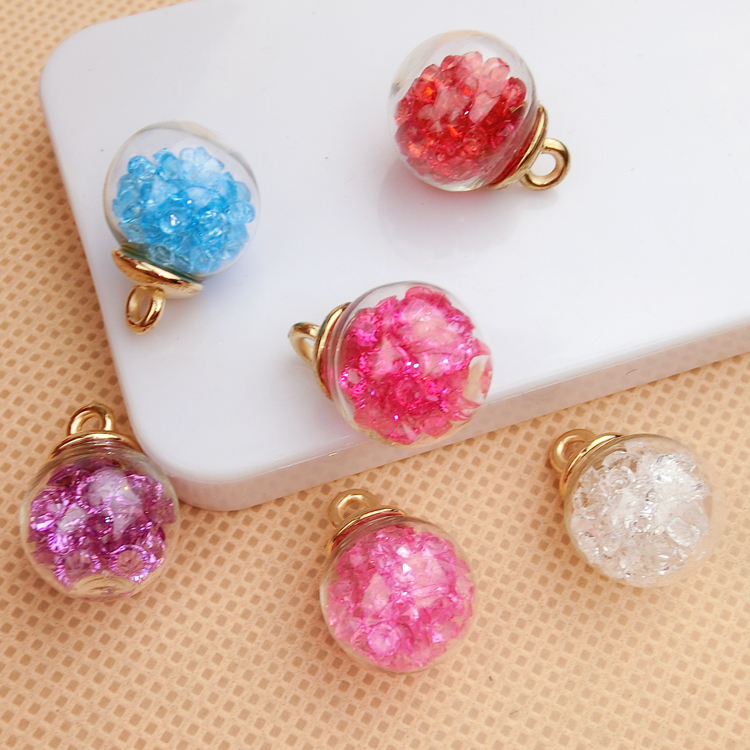 10pcs/lot Big Sale Crystal Beads for Jewelry Making DIY Accessories/Charms/pendant/Round Beads for DIY jewelry findings Sets