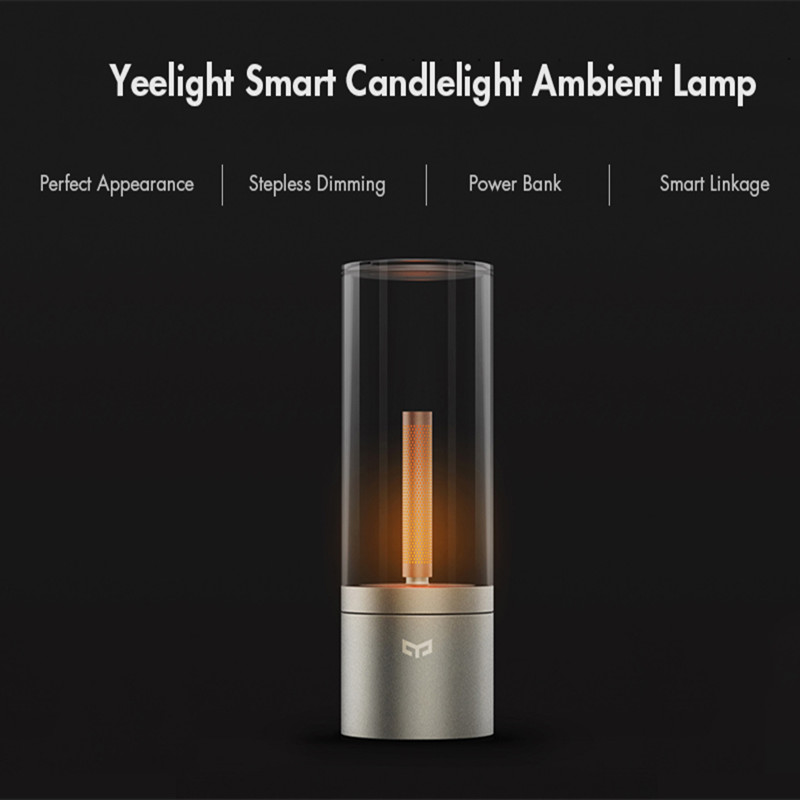 Yeelight Smart LED bougie veilleuse lampe d'ambiance LED Table veilleuse lampe de chevet télécommande tactile contrôle par SmartApp/Bluetooth