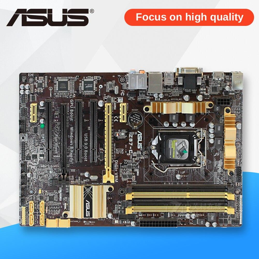 Asus Z87-C Desktop Motherboard Z87 Socket LGA 1150 i7 i5 i3 DDR3 32G SATA3 USB3.0 ATX for asus maximus vi extreme original new desktop motherboard m6e for intel z87 socket lga 1150 for i7 i5 i3 ddr3 32g usb3 0 atx