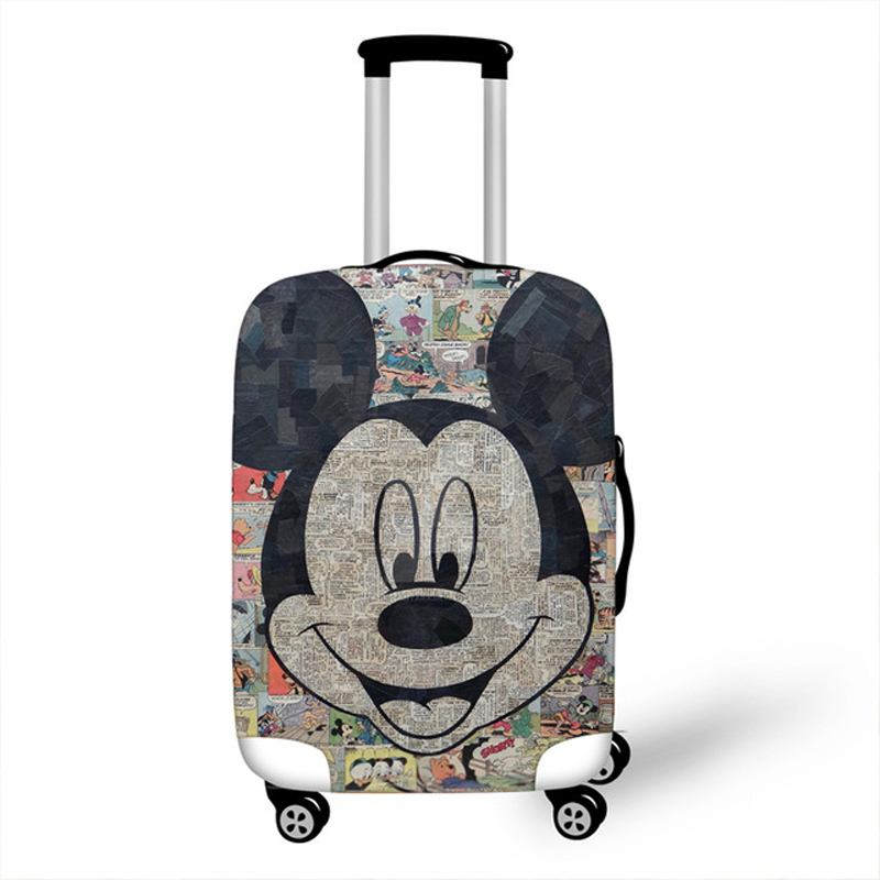 Elastic Luggage Protective Cover Case For Suitcase Protective Cover Trolley Cases Covers Xl Travel Accessories 3D Minnie Mickey