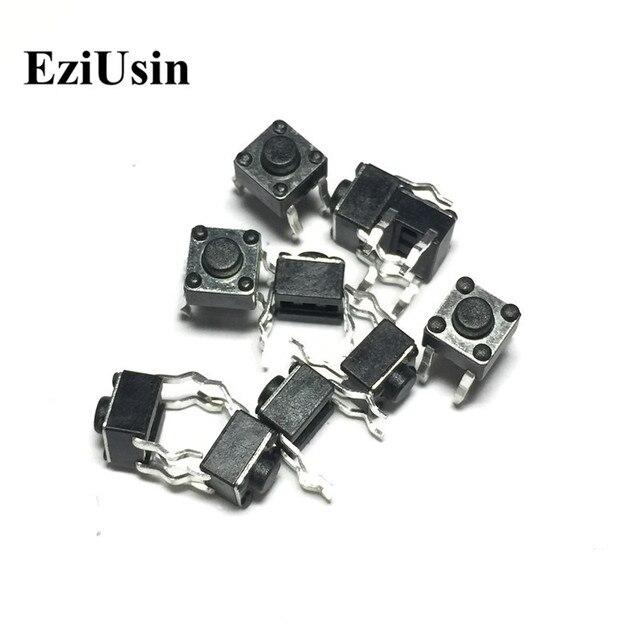 EziUsin 100 шт. 6*6*4,3 панель PCB мгновенные Тактильные Такт кнопочный микро переключатель 4 булавки DIP Light Touch 6x6x4,3 мм ключи клавиатуры