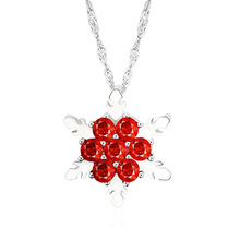 Hot Sell Gold Color Flower Necklaces Pendants with High Quality Cubic Zircon For Women Birthday Gift