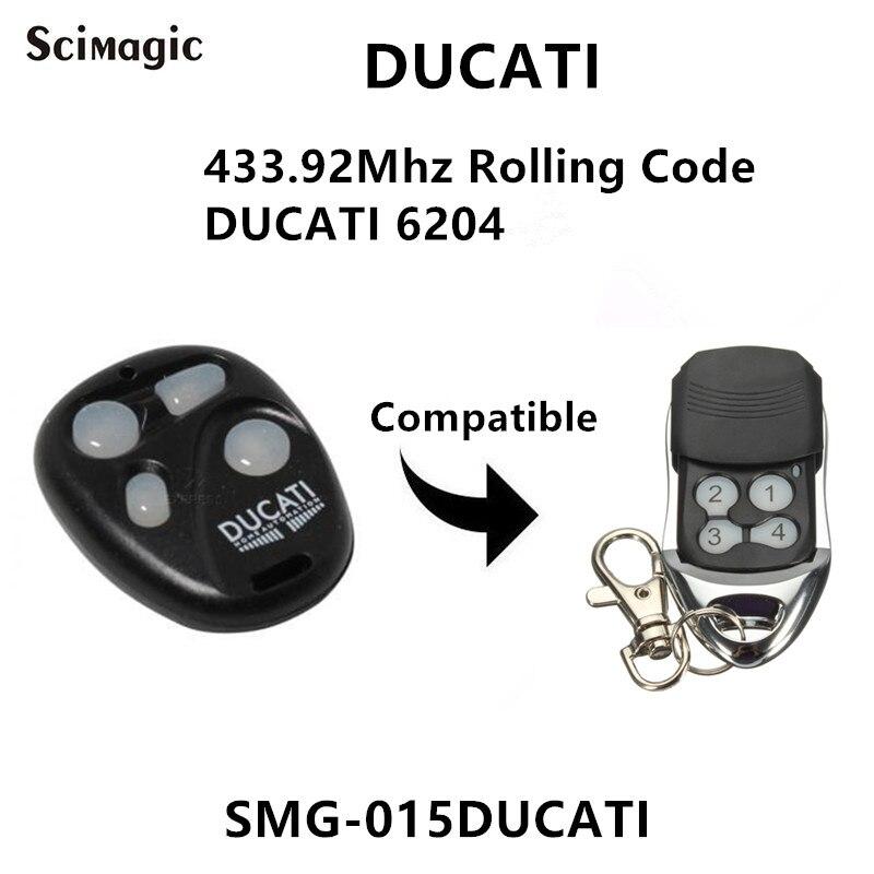 DUCATI 6204 Garage Door Remote Control 433.92mhz Rolling Code Command Gate Control DUCATI Garage Door Opener
