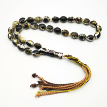 Men's Rosary Black Resin Tasbih 33 Islam Beads Man bracelet with Cotton tassel