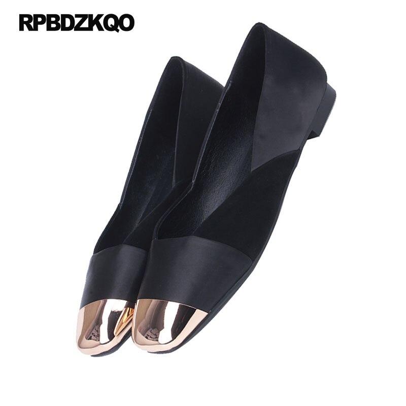 Lujo Metal Ante China Partido Cuero Calidad Chino Negro Fitness multiple Alta Cuadrada Negro Genuino Satén Zapatos Señoras Punta Mujeres De w8AnnIBq