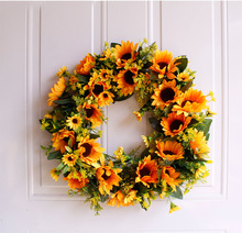 Sunflower Garland Medium, Please 40cm Simulation Silk Door Decoration home Wall Ornamentation Hanging Drop artificial flowers