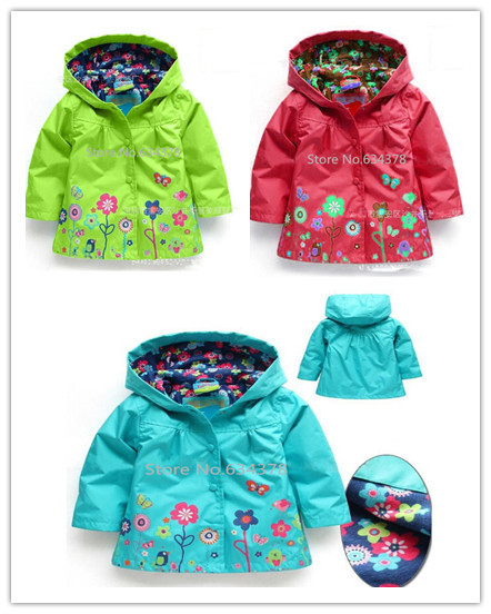 Retail Children Outerwear for girls Coat clothing Kids baby autumn winter Jackets Coats Clothing baby costume wholesale trench