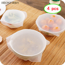 4pcs Food Fresh Keeping Saran Wrap Kitchen Tools Reusable Hi