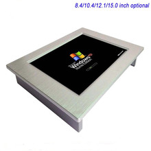 12 inch Embedded Fanless all in one industrial panel pc with 4COM support win10