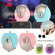 POP Cute Handy Face Moisturizing Sprayer Nano Mist Spray Artifact Facial Steamer Mini Air Humidifier for Smartphone Apple IPhone