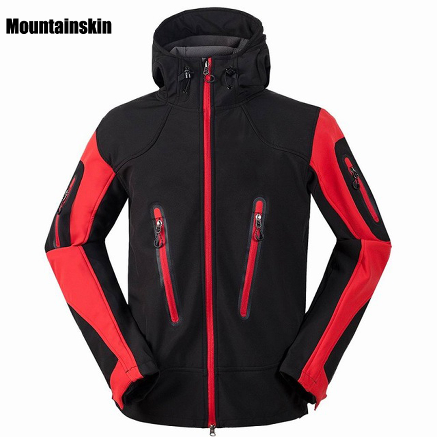 Mountainskin Men's Winter Fleece SoftShell Hiking Jackets Outdoor Sports Clothing Camping Trekking Skiing Waterproof Coats VA050 стоимость