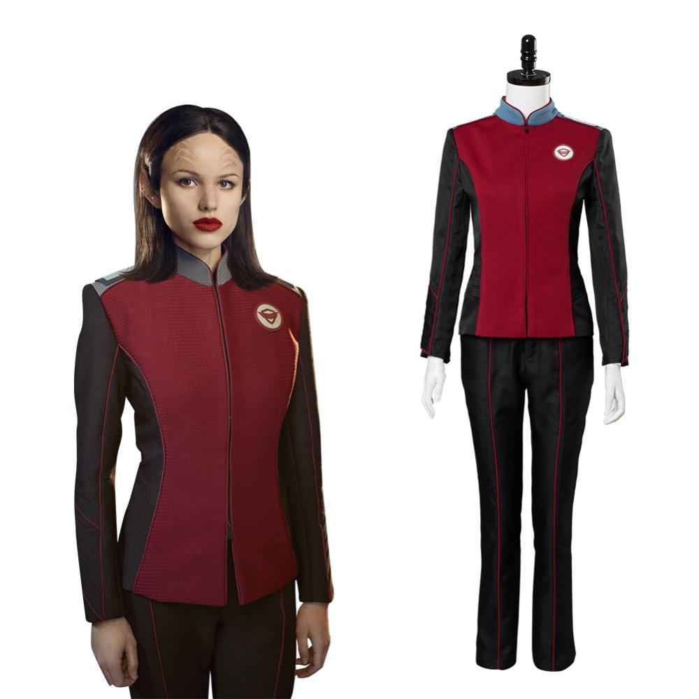 The Orville Alara Captain Cosplay Costume Adult Women Crewman Costume Uniform Suit Coat Full Sets Halloween Carnival Costume