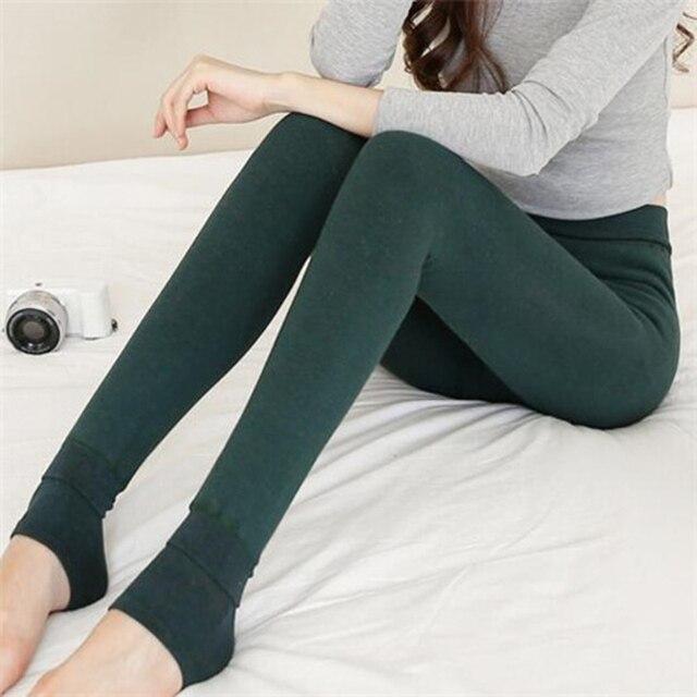 New Arrivals Soft Winter Women Velvet Knitted Thick Slim Super Elastic Leggings Warm Seamlessly Integrated Leggings Pants