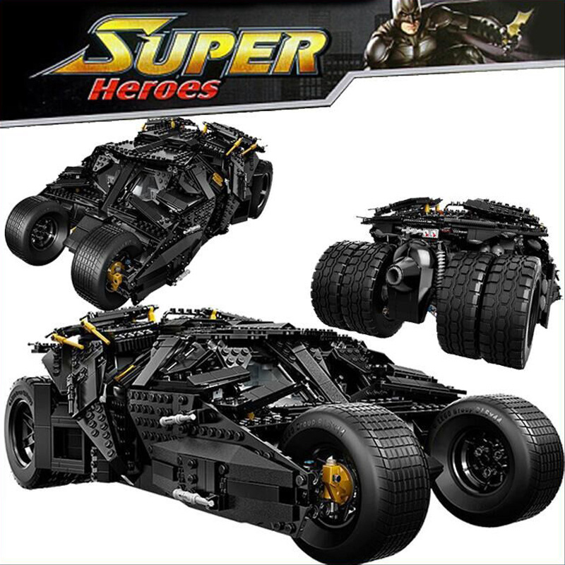 ФОТО dc comic movie deluxe figures batman the dark knight batmobile building block joker minifigures compatible withlego toys for kid