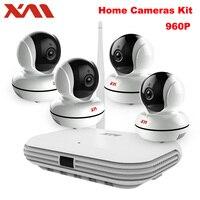 XM 4CH Wireless CCTV System 960P HD NVR IR Night IP Camera Wifi Camera Security System