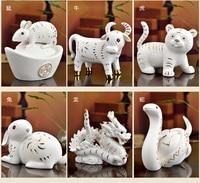 Свадебный подарок для дома украшения Зодиака керамический Тигр курица дракон свинья собака Бык и скульптура лошади декоративная статуя до