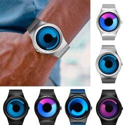 Sinobi marca criativa esportes relógio de quartzo dos homens cinta de aço inoxidável tempo horas relógios dos homens rotação relógio relogio masculino