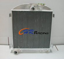 1932 Short Ford Chopped FORD engine Alloy Aluminum Radiator 64mm 3 Core Auto(China)