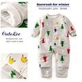 Новорожденный зима рождество утолщаются хлопка мягкой ползунки с длинным рукавом next мальчик девочка одежда комбинезон barboteuse tutine neonato