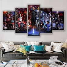 Modern Wall Art Canvas HD Prints Poster Home Decorative 5 Pieces Game Mass Effect Role Painting Framework Modular Pictures