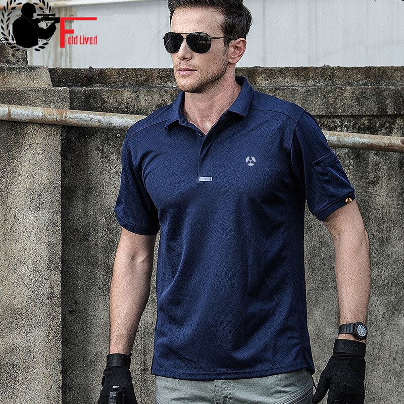 Breathable Urban Tactical   Polo   Shirt Men Summer Coolmax Quick Dry Army Style Male Military Shirt Short Sleeve Casual   Polo   Shirts