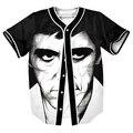 Los hombres de moda Camiseta de Verano con Estilo con botones 3d Hip Hop Streetwear camisetas divertidas de Los Hombres tops de béisbol camisa de tes superior