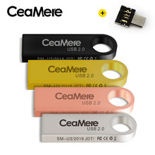 CeaMere C3 USB flash napęd 8 GB/16 GB/32 GB/64 GB Pen Drive Pendrive USB 2.0 dysk Flash pendrive dysk USB 512 MB 256 MB wolnego OTG(China)
