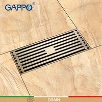 GAPPO Drains Bathroom Floor Anti odor Drainer Bath Drainers Stopper Bath Shower Drainers Strainers Square Floor Hair Catcher
