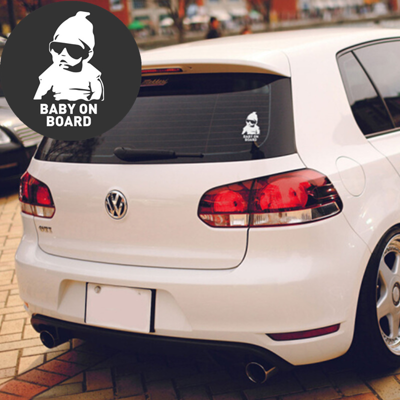 Car-Styling BABY ON BOARD Car <font><b>Stickers</b></font> Warning Decals for Volkswagen VW <font><b>Jetta</b></font> <font><b>MK5</b></font> MK6 Polo Scirocco Lavida Eos Bora image