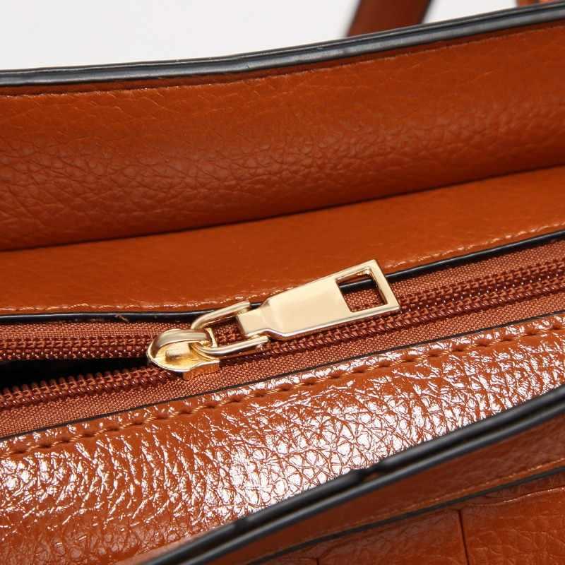 100% saco de couro Genuíno Das Mulheres bolsas 2018 New Hot Europa moda crocodilo padrão de ombro pacote diagonal saco portátil