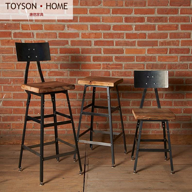 American Village Retro Bar Stool Chair Chairs Cafe Tables And High Specials In From Furniture On Aliexpress Alibaba Group
