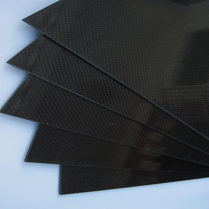1pcs 300x500x1mm Gloosy Surface Carbon Fiber Plate Panel Sheet 3K Plain Weave 1sheet matte surface 3k 100% carbon fiber plate sheet 2mm thickness