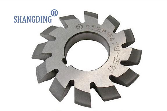 M1 1# Module HSS gear milling cutter Pressure Angle of 20 degrees cut 12T-13T set of driven cambered angle gear