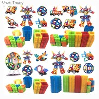 Vavis Tovey 153PCS Magnetic Building Blocks Mini free sticker Magnet Designer Construction sets Toys Kids brithday gifts