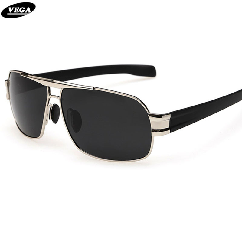 VEGA Mens Polarized Military Sunglasses For Police Driving Square UV Sunglasses Black Glasses For Men Anti Glare Visor 3258