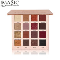Imagic 16 Color Metallic Glitter Eye Shadow Palette Flash Shimmer Eyeshadow Matte Make Up Palette