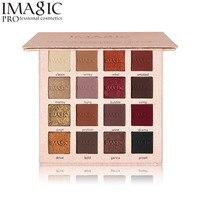 Imagic 16 Color Metallic Glitter Eye Shadow Palette Flash Shimmer Eyeshadow Matte Make Up Palette