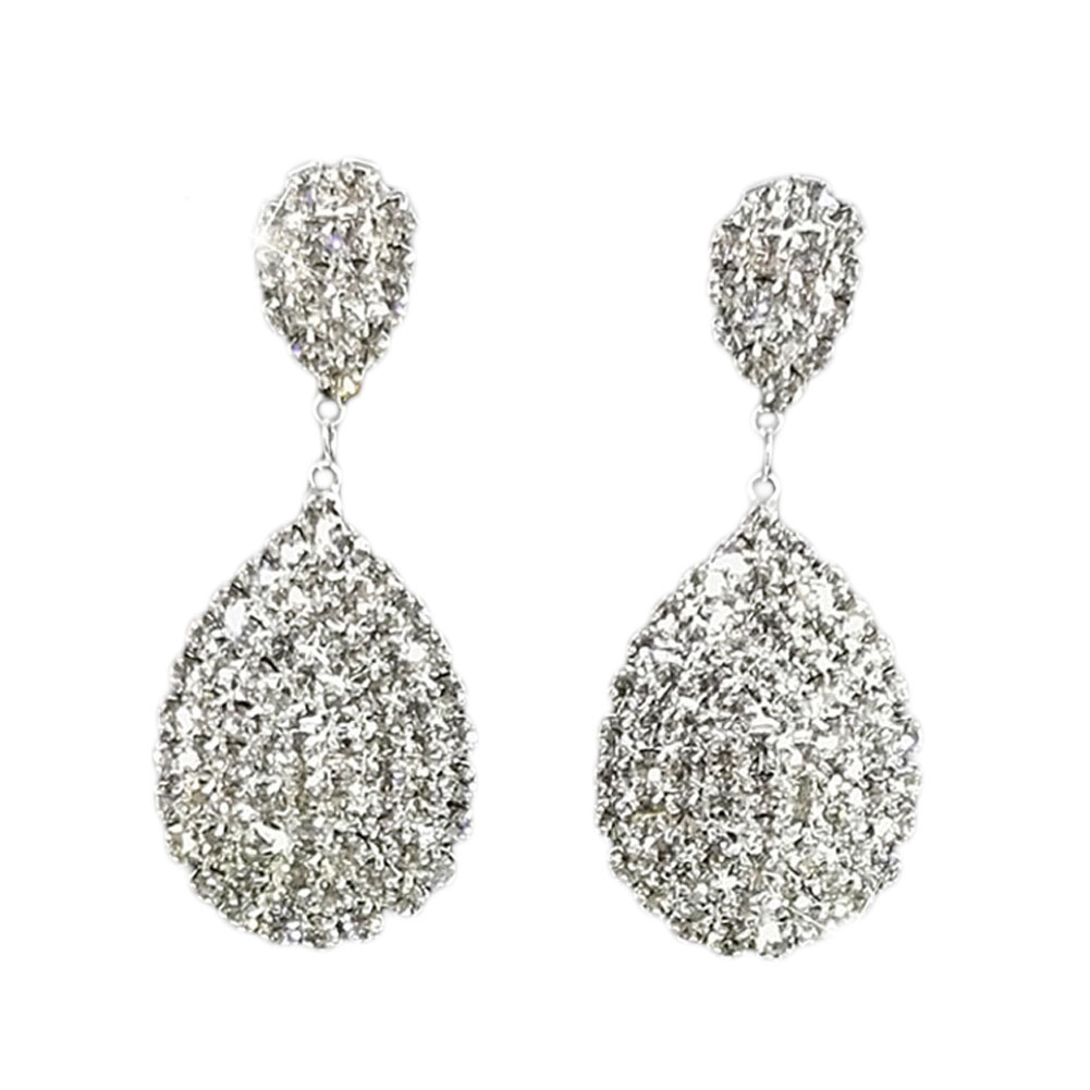 2017 summer style bling crystal clear rhinestone teardrop for Bling jewelry coupon code