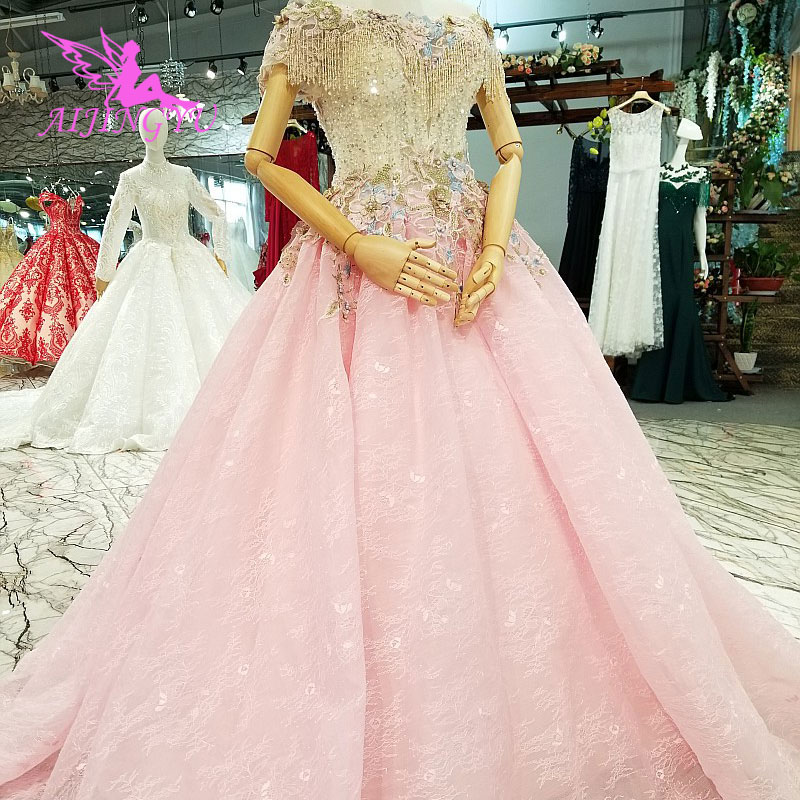 AIJINGYU mariage merci robe allemagne jardin pas cher mariée luxe reine grandes robes rétro robes de mariée pour les femmes
