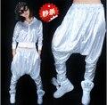 Mulheres calça Casual lantejoulas Jazz dança Hip hop calças cintura elástica flacidez calças calças 6 cores MQ-63